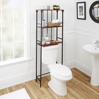 Mixed Material Bathroom Collection 3-Tier Spacesaver (Option: Bronze Finish)|https://ak1.ostkcdn.com/images/products/14163378/P20763679.jpg?impolicy=medium