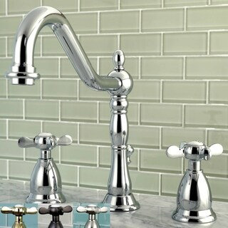 Victorian Cross-Handles Widespread Bathroom Faucet