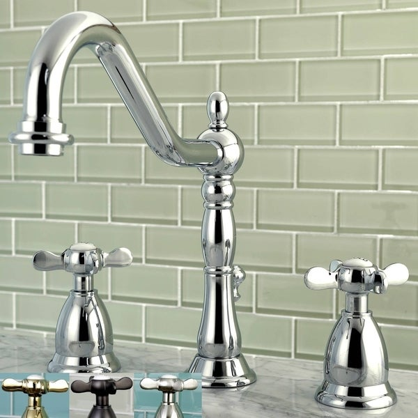 Shop Victorian Cross-Handles Widespread Bathroom Faucet - Free ...