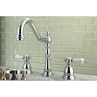 Victorian Porcelain Widespread Bathroom Faucet