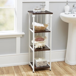 Mixed Material Bathroom Collection 4-Tier Floor Shelf