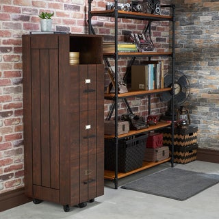 Furniture of America Bise Rustic Walnut 3-drawer File Cabinet