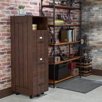 Furniture of America Ceris Rustic Slatted 3-drawer Mobile Vintage Walnut File Cabinet
