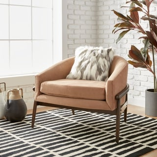 Cradle Club Chair Taupe Velvet