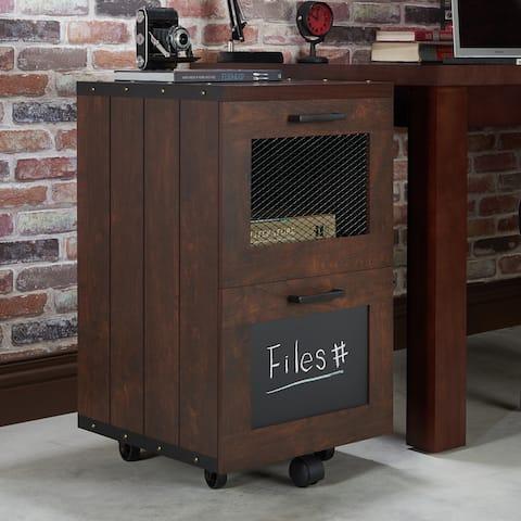 Furniture of America Days Rustic Walnut 2-drawer File Cabinet