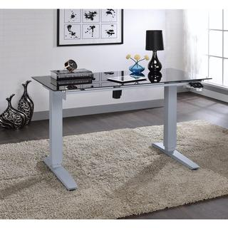 Acme Furniture Bliss Adjustable Height Glass Desk with Power Lift