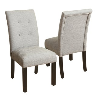 HomePop 4-button Tufted  Black and Tan Parsons Chair