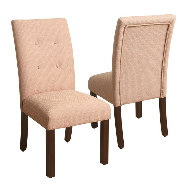 Perfect HomePop Tufted Burnt Orange Parsons Chair   Set Of 2
