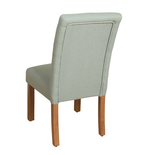 HomePop 4 Button Tufted Spa Blue Parsons Chair   Free Shipping Today    Overstock.com   20763816