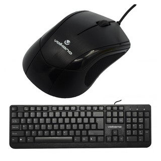 Volkano Mineral Series Black (VB-VS041-BK) Wired Keyboard and Mouse Combo Kit