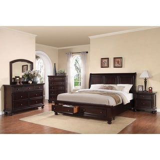 Acme Furniture Grayson 4-piece Storage Sleigh Bedroom Set, Dark Walnut