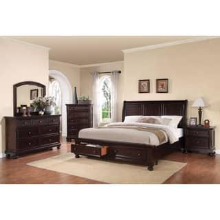 walnut bedroom set. Acme Furniture Grayson 4 piece Storage Sleigh Bedroom Set  Dark Walnut Finish Sets For Less Overstock com