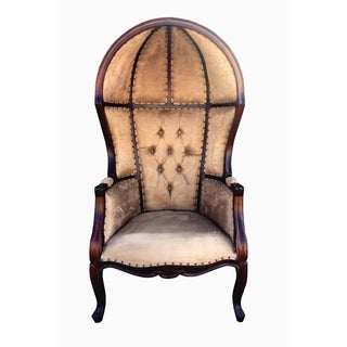 D-Art Louis Dome Granfather Chair-Suede