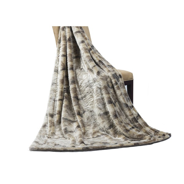 Willdlife Faux Fur and Polyester Throw (50 x 60)