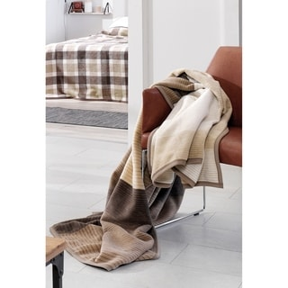 Sorrento Grey/White Stripe Oversized throw