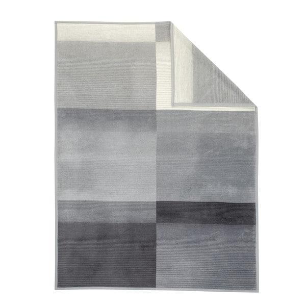 Sorrento Grey/White Stripe Oversized throw