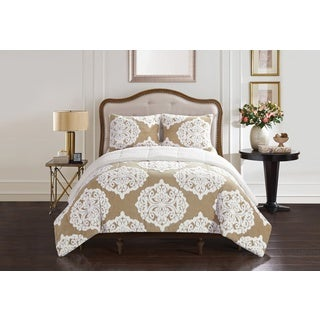 Casa Jacquard Damask 3-piece Bedding Comforter Set