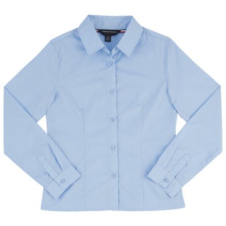 French Toast Girls' Long-sleeved Pointed-collar Blouse
