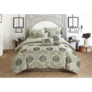 Casa Victoria Jacquard 7-piece Comforter Set
