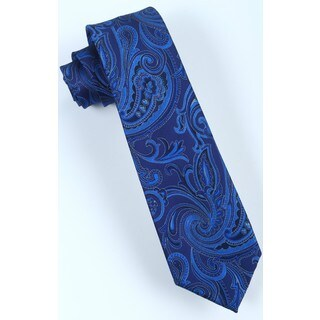 Brio Men's Navy/Blue Paisley Dress Tie
