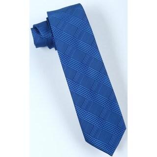 Brio Men's Navy/Blue Plaid Dress Tie