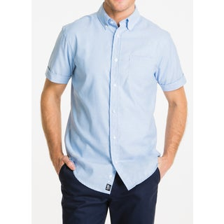 Lee Men's Cotton-blend Short-sleeve Oxford Shirt
