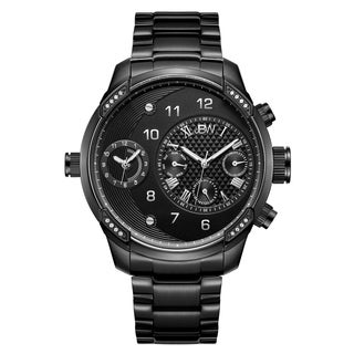 JBW G3 J6344D Men's Black Ion-plated Stainless Steel Diamond Watch