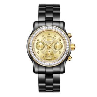 JBW J6330H Women's Laurel Black Ion-plated Stainless Steel Diamond Watch