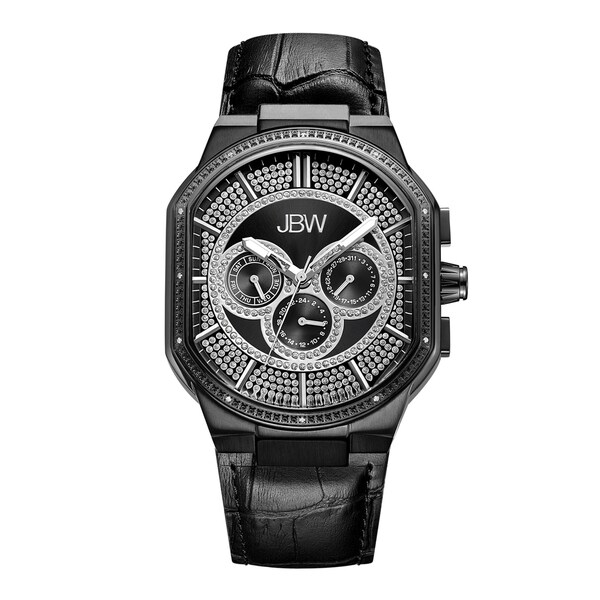 JBW Orion Black Ion-Plated Stainless Steel Diamond Watch