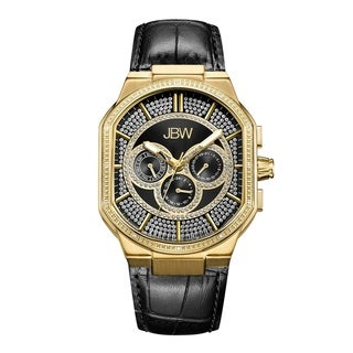 JBW Men's Orion J6342E 18k Goldplated Stainless-steel Diamond Watch