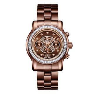 JBW Women's Laurel J6330I Brown Ion-plated Stainless-steel Diamond Watch