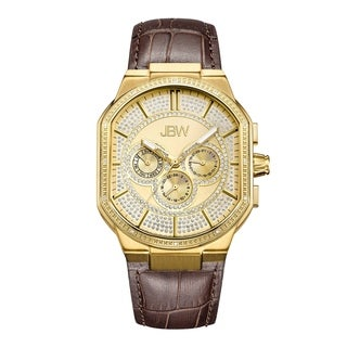 JBW Men's Orion J6342B 18k Goldplated Stainless-steel Diamond Watch