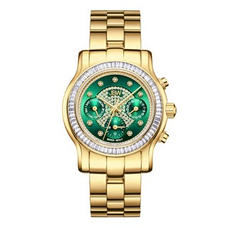 Jbw Laurel Gold-Plated Stainless Steel And Diamond Women'S Watch