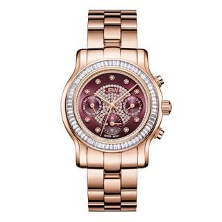 JBW Woman's Laurel J6330G 18k Rose Goldplated Stainless-steel Diamond Watch