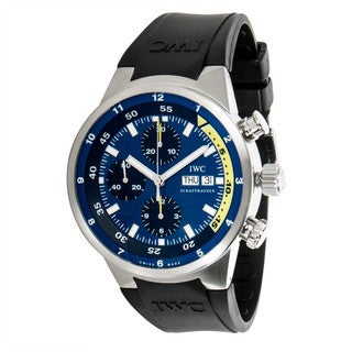 Pre-Owned IWC Aquatimer Costeau for Calypso IW3782 Mens Watch in Steel & Rubber