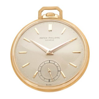 Pre-Owned Patek Philippe 600 1 Pocket Watch in 18K Yellow Gold