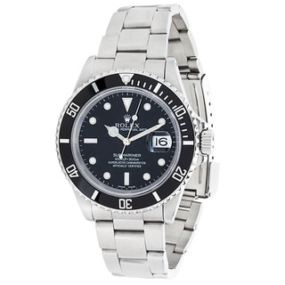 Pre-Owned Rolex Date Submariner 16610 Mens Watch in Stainless Steel