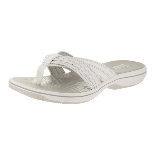 287b59cf07 ... Women's Shoes; /; Women's Sandals. Women's Clarks Brinkley Nora Thong  Sandal White Synthetic