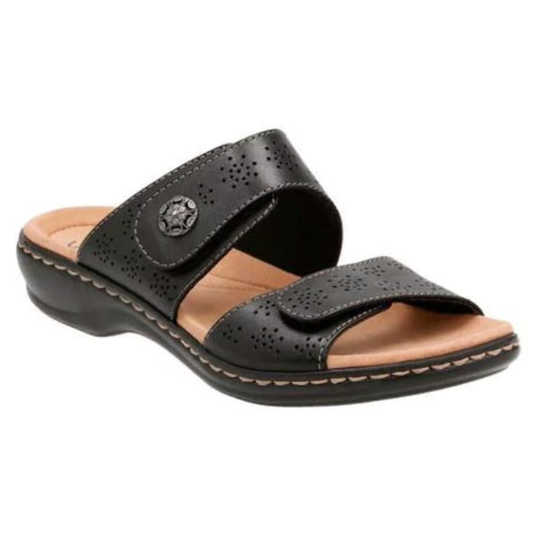 843fc178369a Shop Women s Clarks Leisa Lacole Slide Black Leather - Free Shipping ...