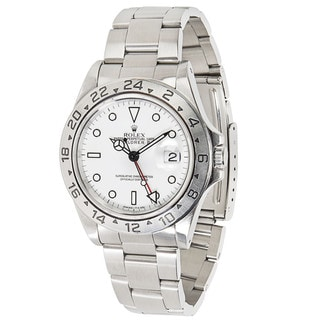 Pre-Owned Rolex Explorer II 16570 Mens Watch in Stainless Steel