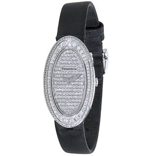 Pre-Owned Tiffany & Co. Cocktail 35065393 Ladies Diamond Watch in 18K White Gold