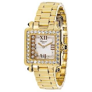 Pre-Owned Chopard Happy Sport 27/6770-0008 Ladies Watch in 18K Gold & Diamond