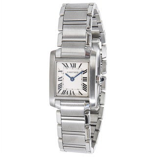 Pre-Owned Cartier Tank Francaise W51008Q3 Ladies Watch in Stainless Steel