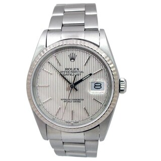 Pre-owned 36mm Rolex Stainless Steel Datejust Watch