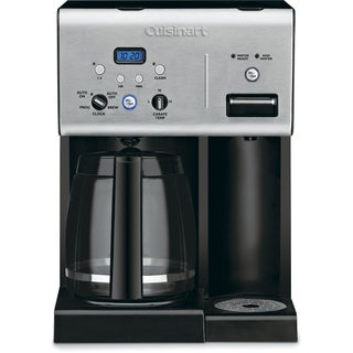 Cuisinart Coffee Plus 12-Cup Programmable Coffeemaker Plus Hot Water System (Refurbished), Black/Stainless