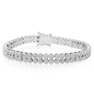 1 Carat Diamond Fine Quality Milgrain Antique Model Bracelet