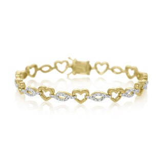 7/8 Carat Diamond Heart Tennis Bracelet