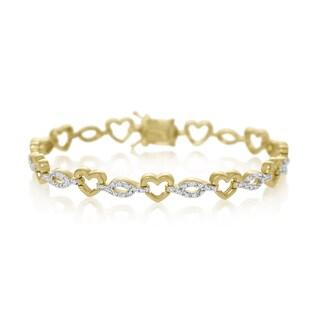 7/8 Carat Diamond Heart Tennis Bracelet