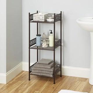 Filigree Bathroom Collection Floor Shelf