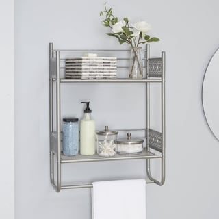 Superb Filigree Bathroom Collection Wall Shelf